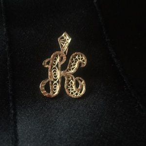 Accessories - 14k solid gold K pendant
